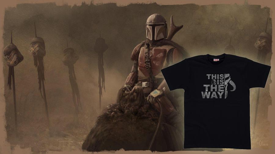 Купить футболку с Мандалорец