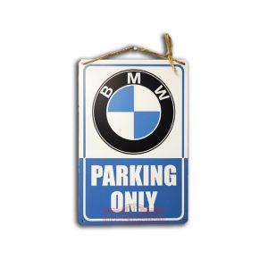 Металлическая табличка BMW Parking only