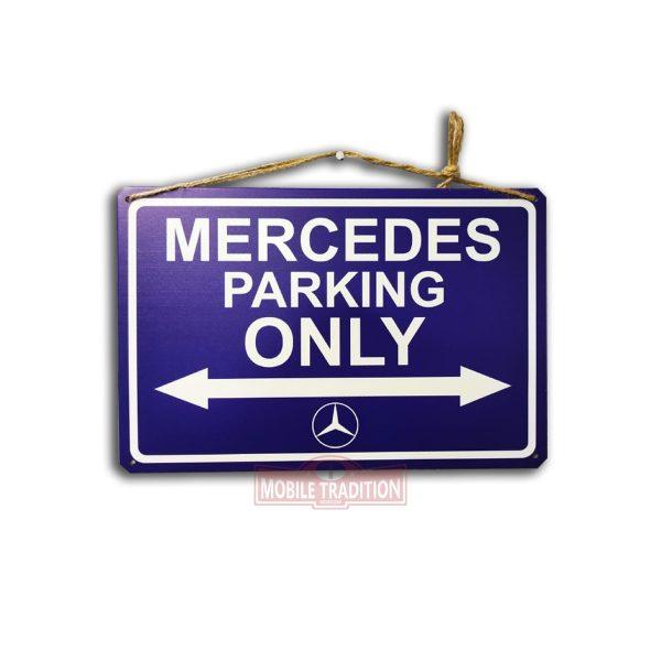 Металлическая табличка указатель парковка только для Мерседес