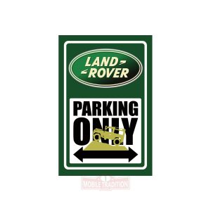 Metal plate Land Rover Parking Only